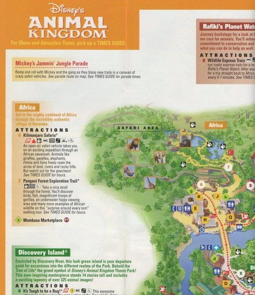 Disney\'s Animal Kingdom - 2005 Park Map