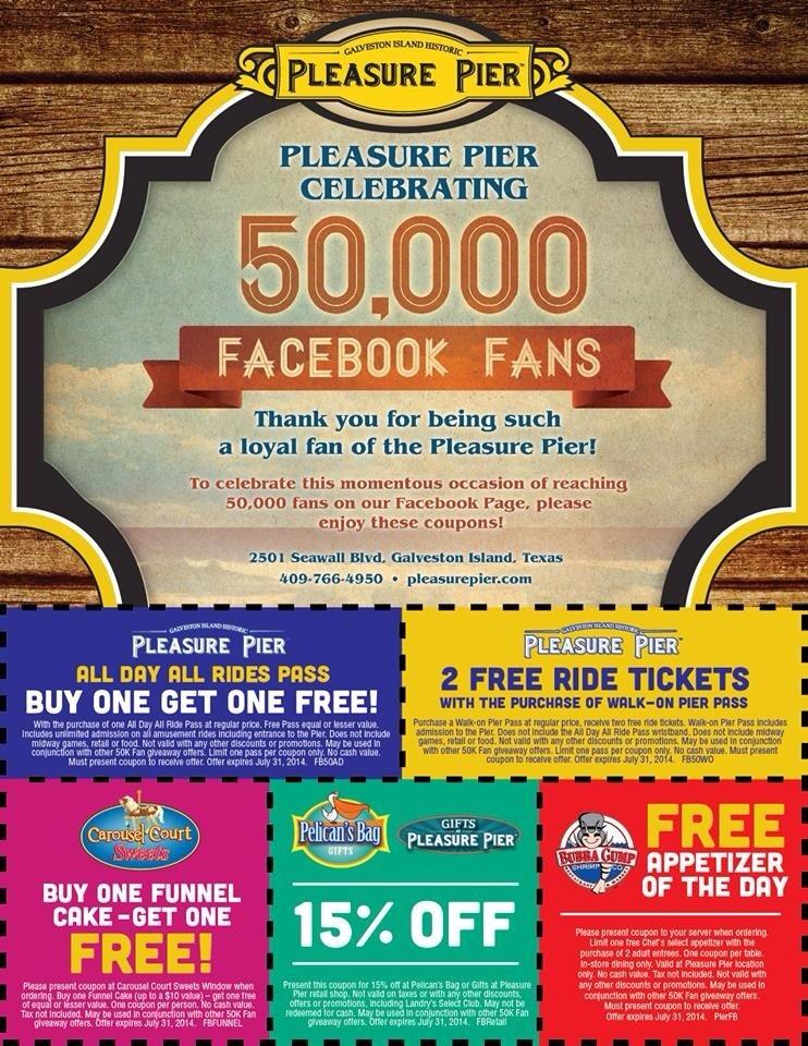Pleasure pier coupons 2019