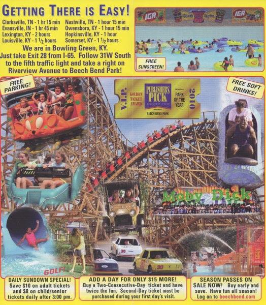Beech Bend - 2011 Park Brochure