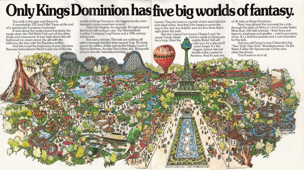 Kings Dominion  Shane39s Amusement Attic  1980 Brochure