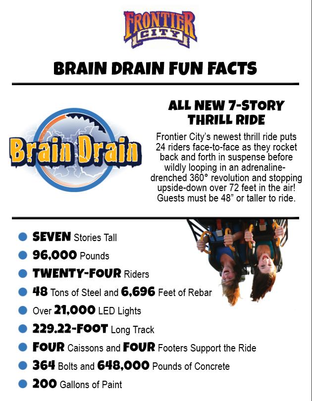 Frontier City Announces 'Brain Drain' - Theme Park Review