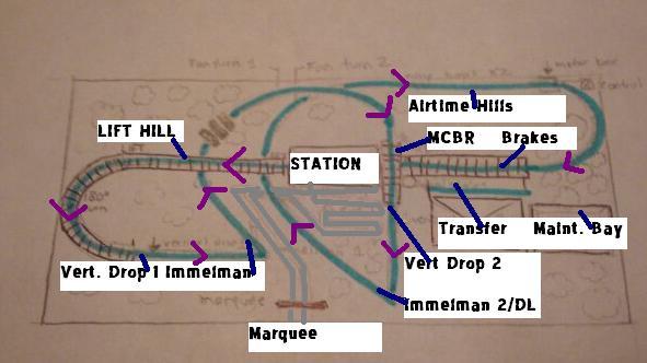 Banshee Roller Coaster Station