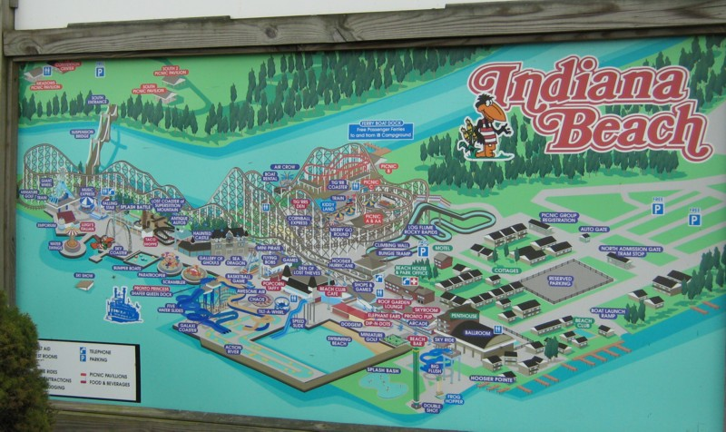 Map Of Indiana Beach Needed  Theme Park Review