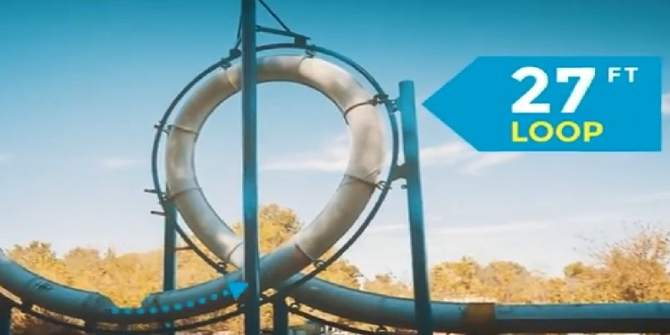 Avalanche's New Looping Water Slide!