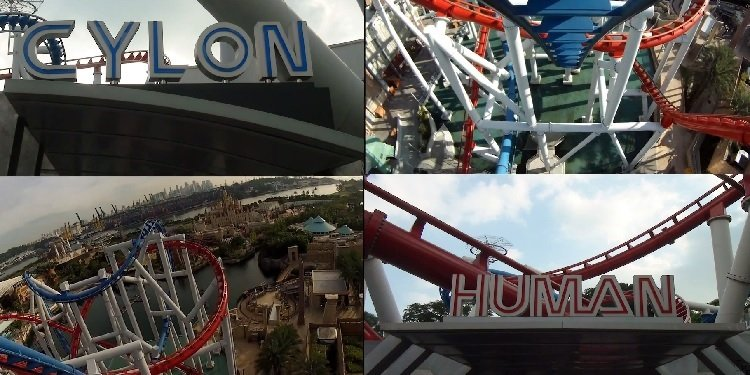 Side-by-Side POV of Battlestar Galactica at Universal Singapore!