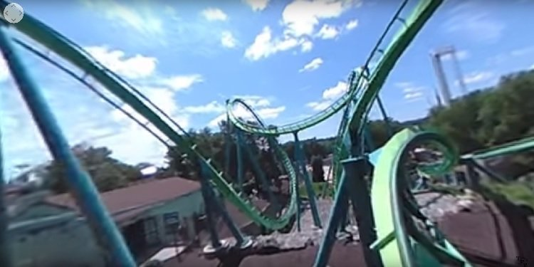 360-Degree POV Video of Dorney's Hydra!