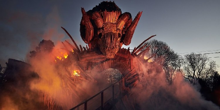 Great Photos of the Wicker Man Coaster!