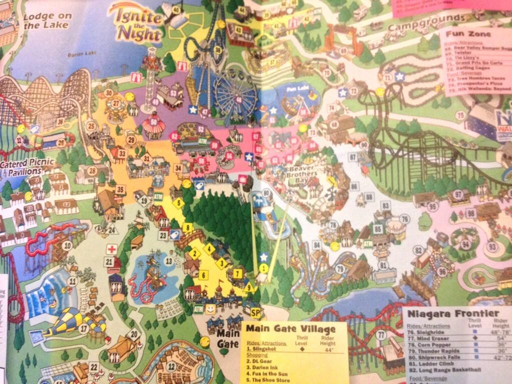 Darien Lake Map on