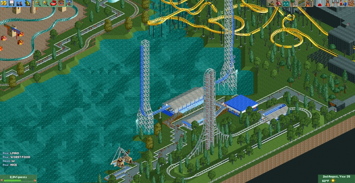 Theme Park Review • [RCT2] Evergreen Crescent - Multiplayer Park