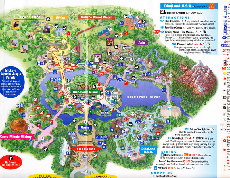 Pics Photos - Animal Kingdom Park Map