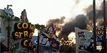 IOA's Ripsaw Falls on FIRE!