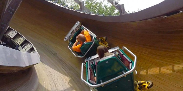 Knoebels Flying Turns POV!