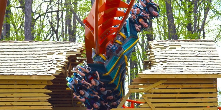 POV Video of Holiday World's Thunderbird!