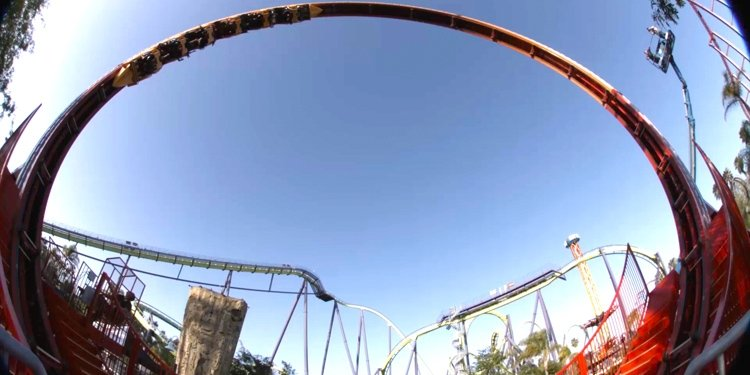 Dare Devil Chaos Coaster Media Day--plus POV Video!
