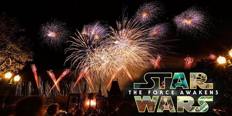 The Force Awakens via Fireworks!
