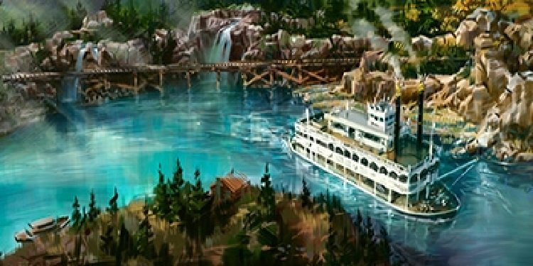 Disneyland's Rivers of America Concept Art!