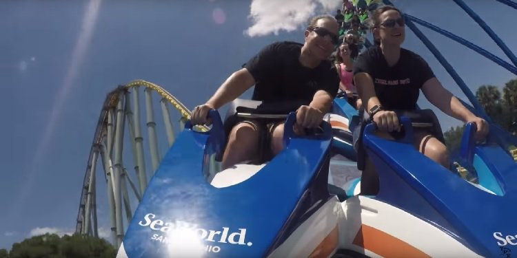 POV of SeaWorld San Antonio's Wave Breaker!