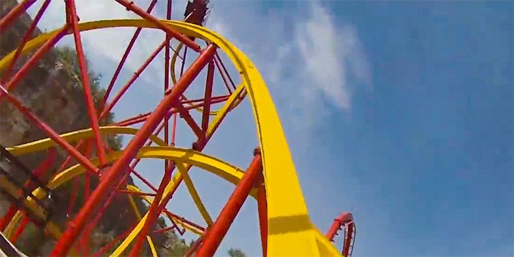 Wonder Woman Golden Lasso Roller Coaster!