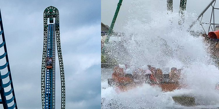 Wettest Roller Coaster EVER!