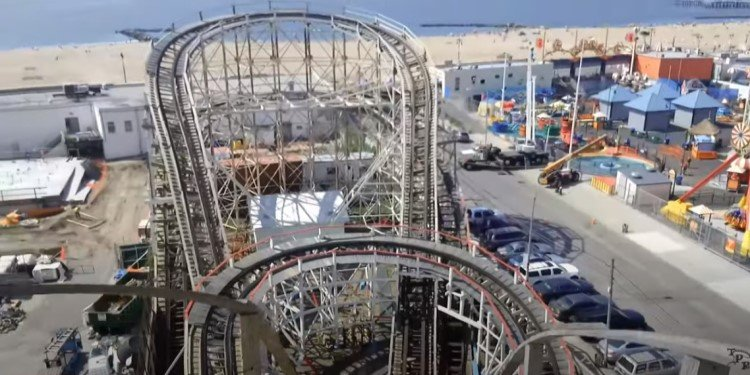 Triple Ride on the Coney Island Cyclone!