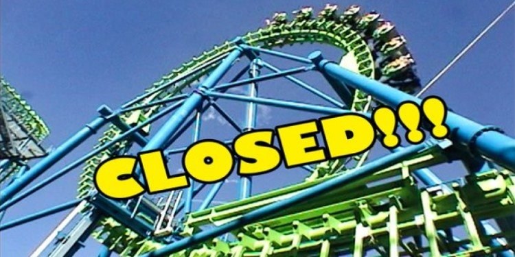 Video of Closed Coasters at SF Magic Mountain!