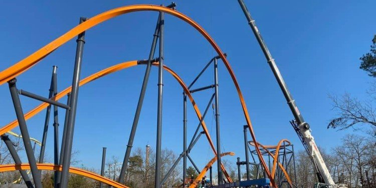 Construction Photos of the Jersey Devil Coaster!